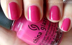 China Glaze make an entrance, is gorgeous, highly pigmented and the perfect shade of pink!