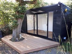 Office In My Garden is a bespoke Garden Room Company based in North London specialsing in the construction of Garden Rooms, Garden Offices and Summerhouses Backyard Guest Houses, Backyard Office, Outdoor Office, Backyard Buildings, Backyard Studio, Garden Studio, Garden Office, Outdoor Rooms, Backyard Patio