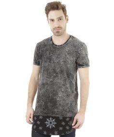 Camiseta Longa Cinza Mescla - cea