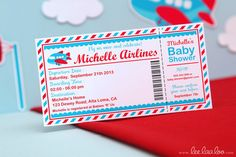 Airplane Baby Shower Invitation - This one is awesome!! Jacquelyn Johnson