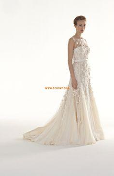 Tul Elegante Flores Vestidos de Novia 2014