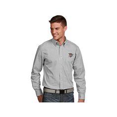 Men's Antigua Oklahoma City Thunder Associate Plaid Button-Down Shirt, Size: Medium, White Oth