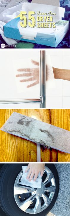 Even if you don't use disposable dryer sheets for your laundry (like me)....there are still plenty of OTHER ways to USE and RE-USE these little wonders!