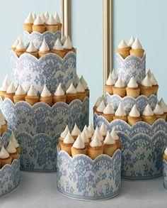 Coroa de cupcakes