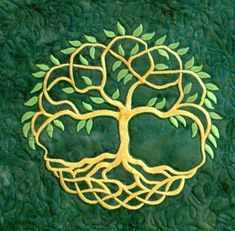 Celtic Tree of Life Quilted Table Runner - Advanced Embroidery Designs