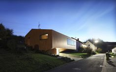 Contemporary Approach: Minimalist House With Unusual Shape in Germany