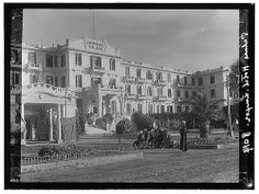 Egypt. Luxor. Winter Palace Hotel; front view from north west 1900_1920