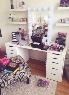 CLICK TO SEE MORE Beauty Room Designs On Our BLOG for #makeup organization and…