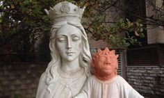 canada baby jesus head: Heather Wise, the local artist who sculpted the new baby Jesus head, said the project was 'an honour of my entire art career'.