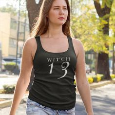 Witch 13 tank top https://www.etsy.com/listing/491887362/witch-tank-topwitch-shirtfriday-the-13th