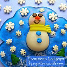 Sugartown Sweets: Snowman Lollipops, Impact Jackets & Prayer! Easy Jolly Ranchers Lollipops!
