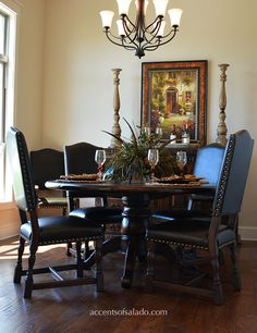 Dining Chairs and Tables at Accents of Salado. Old World Dining Room Furniture for Today's Homes. Online.