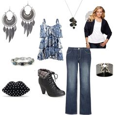 plus size, fun and funky outfit