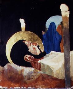 """XIV - Jesus é sepultado. Ben Denison, """"The Stations of the Cross"""" for St. Isaac Jogues - a Catholic Church in Niles, Illinois"""