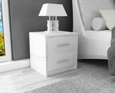 Noční stolek SANDRA bílá Nightstand, Kitchen, Table, Room, Furniture, Girls, Home Decor, Bedroom, Bedside Desk