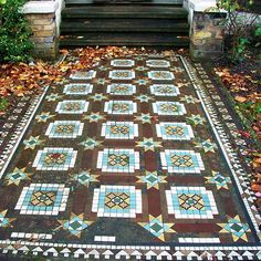 Richly ornate Victorian path. Brockley, London