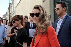 Olivia Palermo after Dior show, Paris.