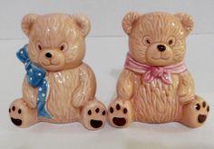 Vintage Teddy Bears Salt and Pepper Shakers by SusieSellsVintage, $12.00