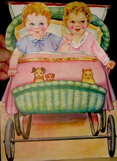 Twinnies in their Carriage by Pennelainer, via Flickr
