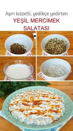 Easy Salad Recipes, Easy Salads, Crab Stuffed Avocado, Cottage Cheese Salad, Salad Dishes, Dinner Salads, Turkish Recipes, Pasta, Food And Drink