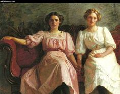 Yvonne Tuxen and Vibeke Krøyer, 1909by Laurits Tuxen (Danish 1853-1927)
