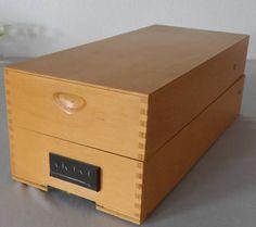Vintage Holz-Karteikasten Din A6 Bürobedarf Geschenkidee zur