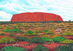 Ayers Rock Australia artwork drawing $99 - $149 size preference click website