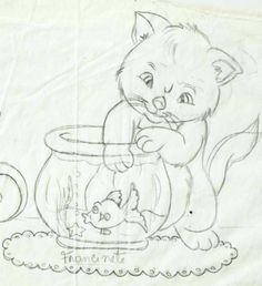 , Cute Embroidery, Modern Embroidery, Hand Embroidery Designs, Vintage Embroidery, Embroidery Patterns, Quilt Patterns, Hand Work Blouse Design, Fabric Painting, Animal Drawings