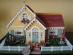 Miniature Mary Engelbreit Dollhouse Diorama by Ferne Simpson 1 48 Madeline Doll | eBay