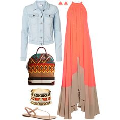 """""""Denim and Tribalwear"""" by bmarvin on Polyvore"""