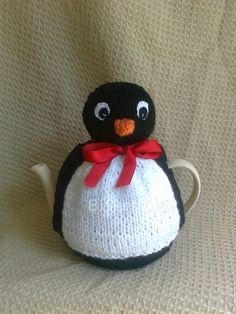 Knitted Mr Penguin Tea Cosy