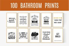 Bathroom Wall Decor Funny Bathroom Signs Bathroom Wall Art   Etsy
