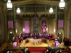 The beautiful First United Methodist Church at the Chicago Temple on Palm Sunday.... March 24, 2013.