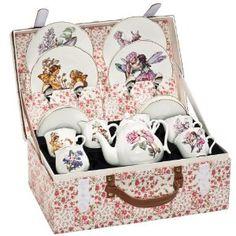 Reutter Porcelain Flower Fairy Child's Tea Set