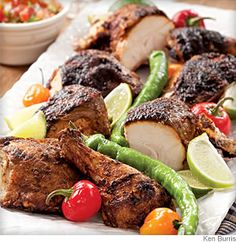 Butterflied grilled chicken chile lime