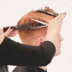 Men's Overdirected Clipper Cut from TONIandGUY - Behindthechair.com Simply Hairstyles, Young Mens Hairstyles, Men's Hairstyles, Latino Haircuts, Haircuts For Men, High And Tight Haircut, Mens Hair Clippers, Hair Cutting Techniques, Clipper Cut