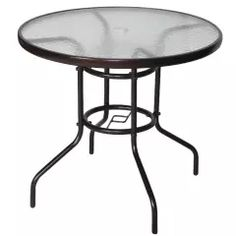 Cloud Mountain 32 Outdoor Dining Table Patio Tempered Glass Table Patio Bistro Table Top Umbrella Stand Round Table Deck Garden Home Furniture Table, Dark Chocolate* For more information, visit image link. (This is an affiliate link) Stainless Steel Dining Table, Glass Dining Table, Round Dining Table, Patio Furniture Covers, Table Furniture, Home Furniture, Garden Furniture, Living Furniture, Outdoor Furniture
