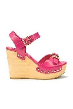 Zara pink platform wedge sandals, £69.99