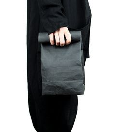 Washable Kraft Paper Lunch Hand Bag Clutch