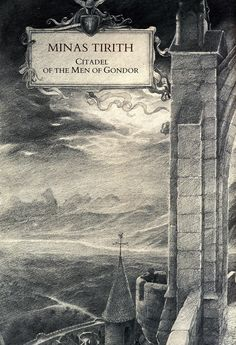 Alan Lee Minas Tirith (off 'Castles') Alan Lee, Middle Earth Books, Legolas And Tauriel, Minas Tirith, Hobbit Films, Fanart, Jrr Tolkien, Illustrations, Lord Of The Rings