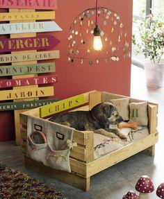 pallet dog's bed