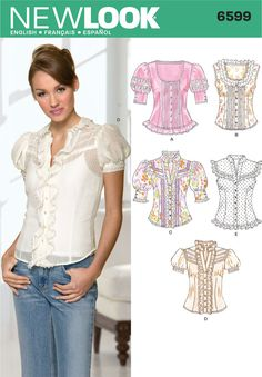 Womens Blouses Sewing Pattern 6599 New Look