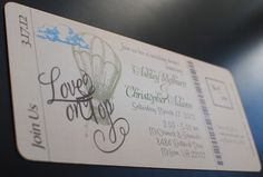 Vintage Hot Air Balloon Boarding Pass - Sparkling Events & Designs