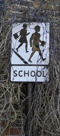 old British school traffic warning sign Those Were The Days, The Old Days, Childhood Images, Childhood Memories, Camille Redouble, British Schools, English Village, School Signs, School Daze