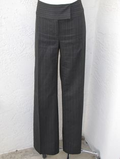 CAbi size 8 dark gray pin striped career trouser pants style 634