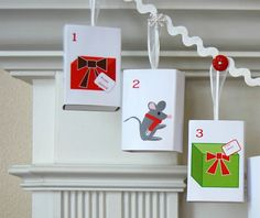Christmas Countdown by MerryMatchboxes on Etsy, $65.00