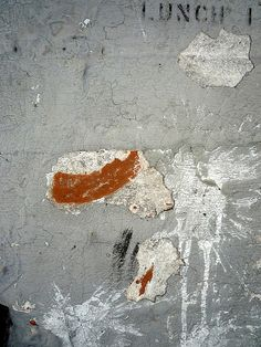 cement, wall, lunch, surface, concrete, paint