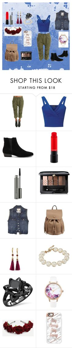 """Street Style"" by dadacollins on Polyvore featuring R13, Miss Selfridge, Étoile Isabel Marant, MAC Cosmetics, Guerlain, Current/Elliott, Kate Spade, Lipsy and Casetify"