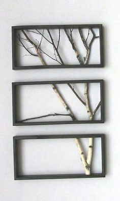 I would probably use a different type of frame... These are totally boring! But I LOVE the idea of the separated branches.