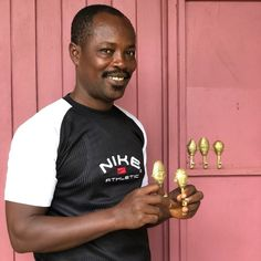 Ghanaian Ashanti Brass Hook 'Sun Mask'